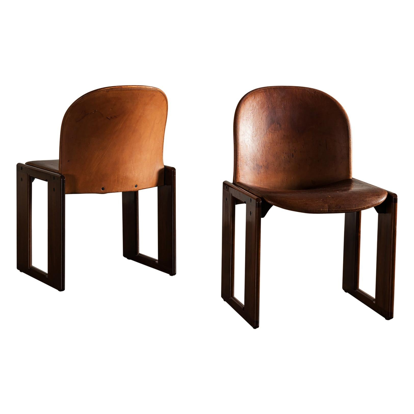 Pair of Dialogo Chairs by Afra and Tobia Scarpa for B&B Italia, Italy, 1970s