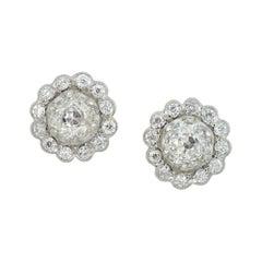 Pair of Diamond Cluster Earrings