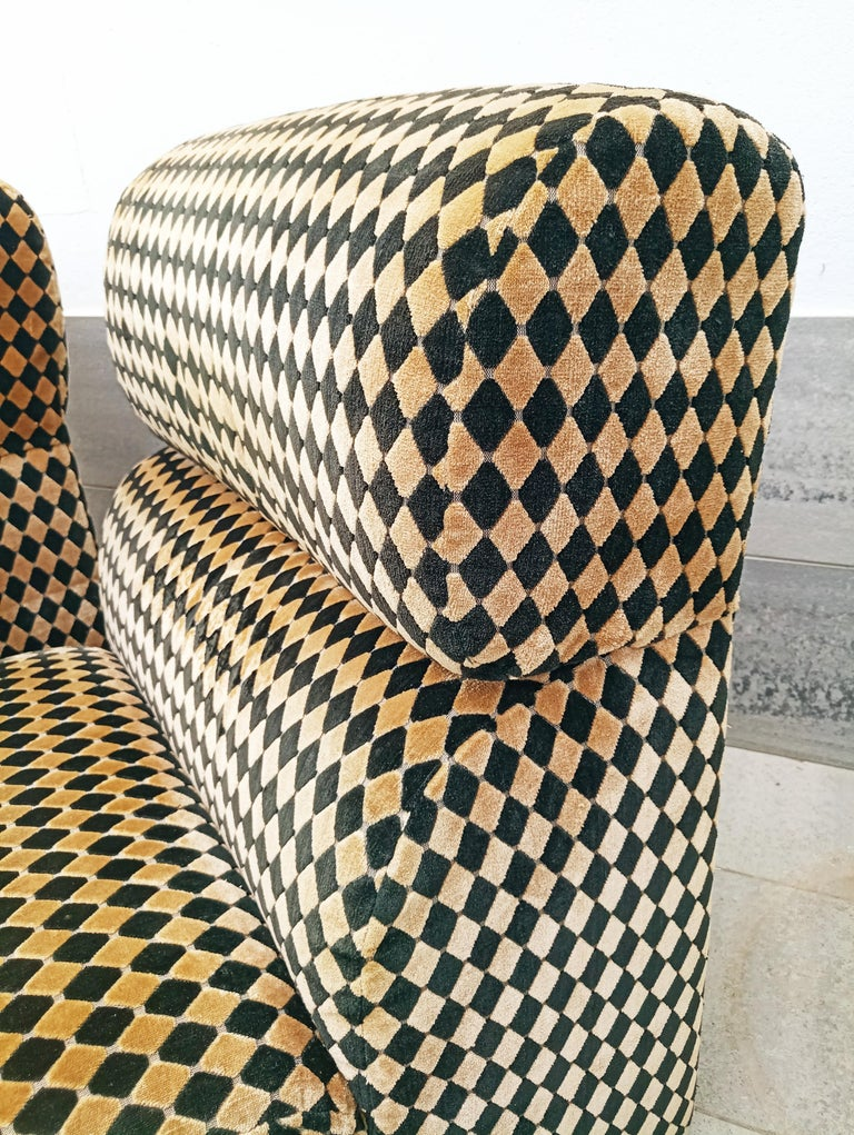 Pair of Diamond Easy Chairs, France, 1970s In Good Condition For Sale In L'Escala, ES