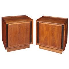 Pair of Dillingham Mid-Century Modern Walnut Nightstands
