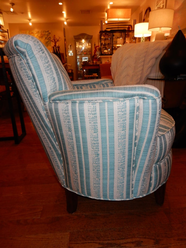 Pair of Diminutive French Art Deco 1930s Custom Armchairs In Excellent Condition For Sale In Bellport, NY