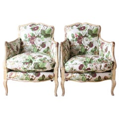Pair of Diminutive Painted French Bergères