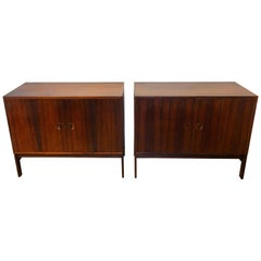 Pair of Diminutive Rosewood Credenza by Ib Kofod-Larsen for Faarup Møbelfabrik