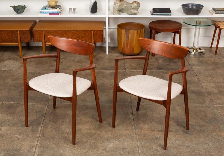Scandinavian Modern Pair of Dining Armchairs by Harry Østergaard for Randers Møbelfabrik