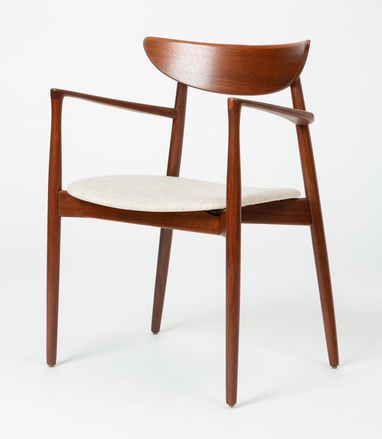 Danish Pair of Dining Armchairs by Harry Østergaard for Randers Møbelfabrik