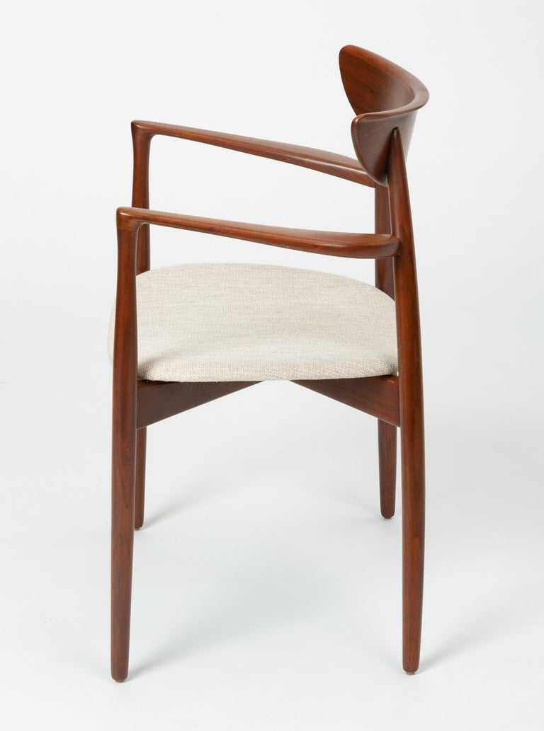 Fabric Pair of Dining Armchairs by Harry Østergaard for Randers Møbelfabrik