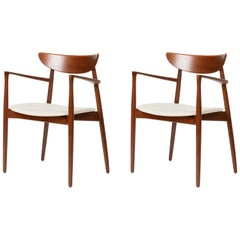 Pair of Dining Armchairs by Harry Østergaard for Randers Møbelfabrik