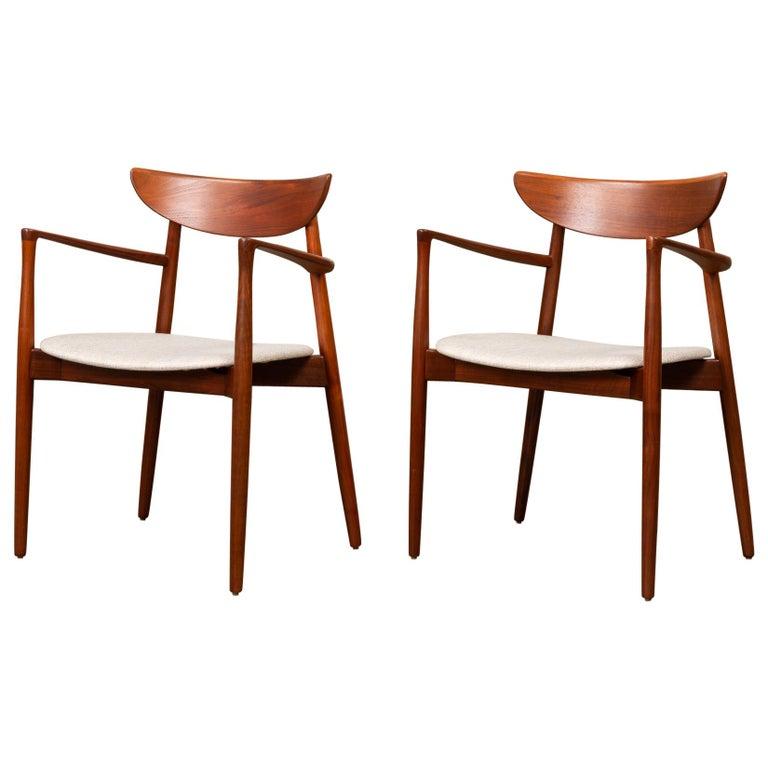 Pair of Dining Armchairs by Harry Østergaard for Randers Møbelfabrik