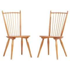 Pair of Dining Chairs by Albert Haberer for Hermann Fleiner, Germany, 1950s