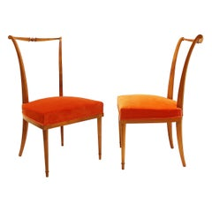 Pair of Dining Chairs by Andre Arbus, France