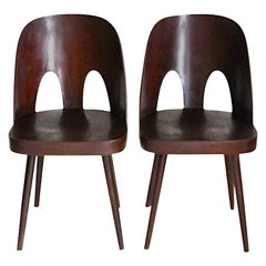 Pair of Dining Chairs Designed by Oswald Haerdtl, 1955