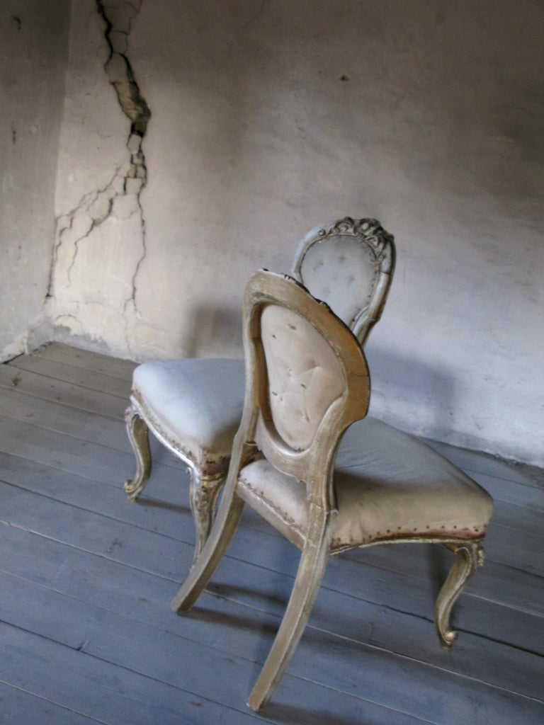 Pair of Dining Chairs, French Chairs, Gilded Chairs, Side Chairs, 19th Century In Good Condition For Sale In South Cotswolds, GB