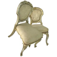 Pair of Dining Chairs, French Chairs, Gilded Chairs, Side Chairs, 19th Century