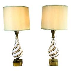 Pair of Dino Martens Murano Lamps