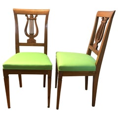 Pair of Directoire Chairs, Western, France, 1810-1820
