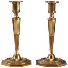 Pair of Directoire-Period Ormolu Candlesticks