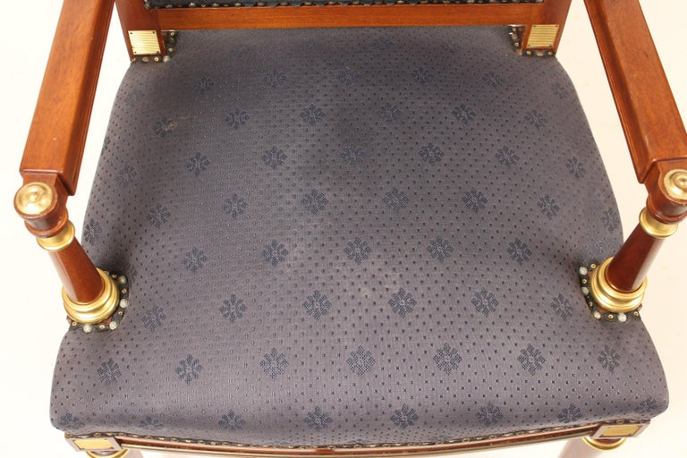 Pair of Directoire Style Armchairs For Sale 6