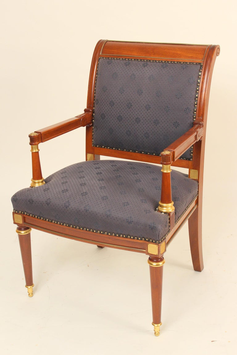 Unknown Pair of Directoire Style Armchairs For Sale