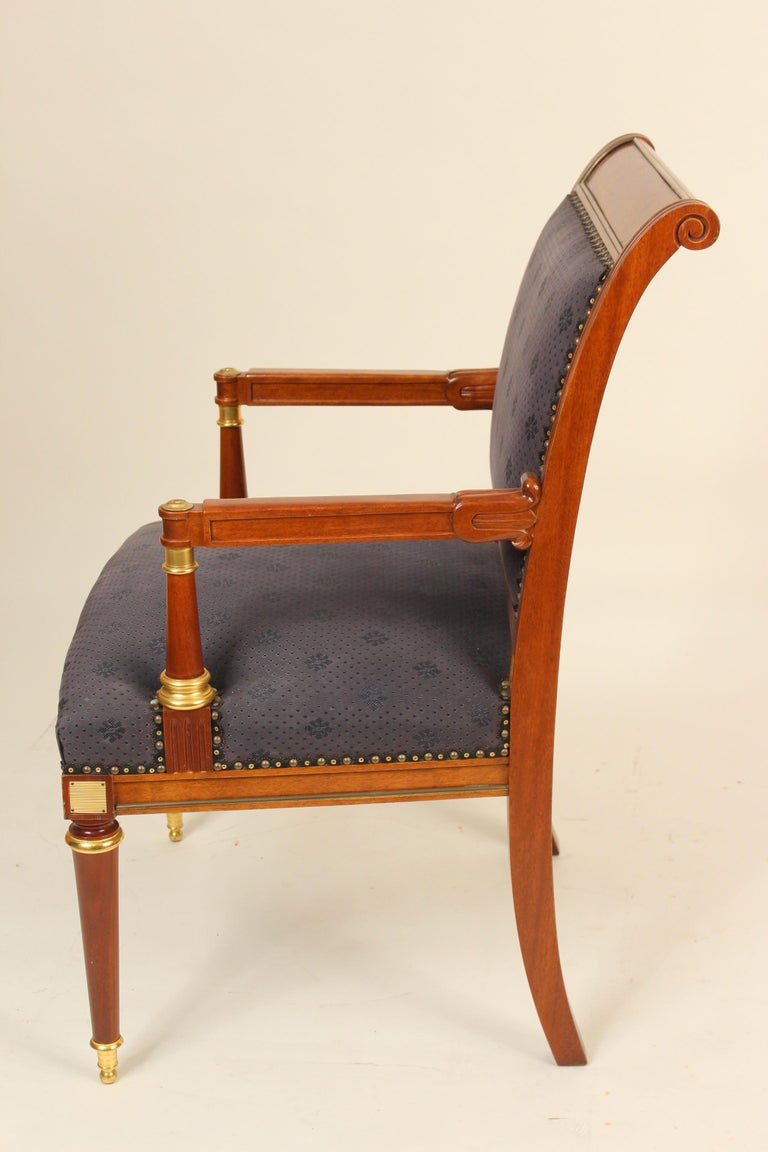 Pair of Directoire Style Armchairs In Good Condition For Sale In Laguna Beach, CA