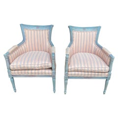 Pair of Directoire Style Polychrome Bergers