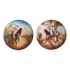 Pair of Dishes with Orientalist Scenes by Montreau and company