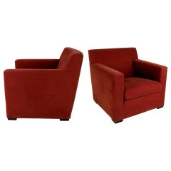 Pair of Dix Lounge Chairs by Rodolfo Dordoni for Minotti