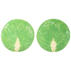 Pair of Dodie Thayer Lettuce Side Plates