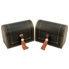 Pair of Dome Top Stationery Boxes
