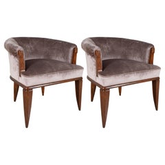 Pair of Dominique Rosewood Armchairs from Alan Moss