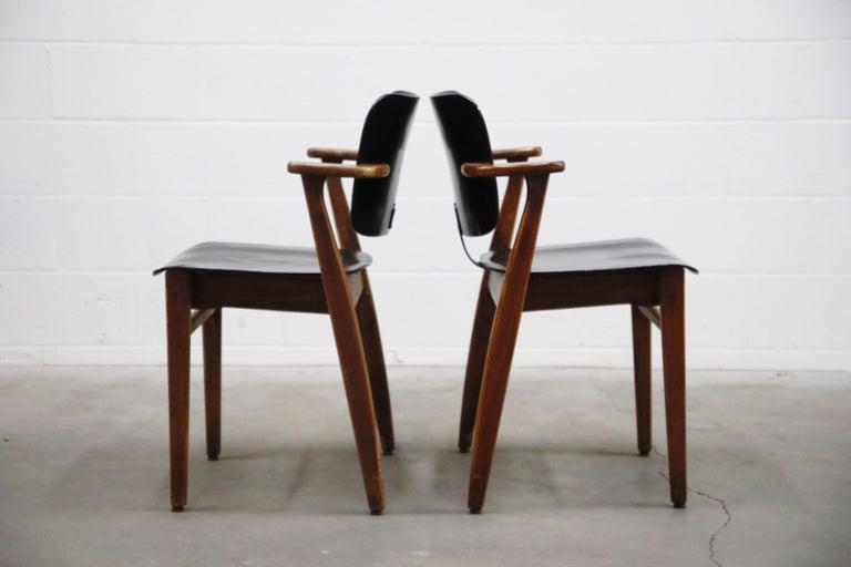 Mid-Century Modern Pair of 'Domus' Armchairs by Ilmari Tapiovaara, circa 1947, Finland For Sale