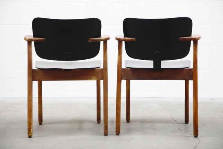 Mid-20th Century Pair of 'Domus' Armchairs by Ilmari Tapiovaara, circa 1947, Finland For Sale