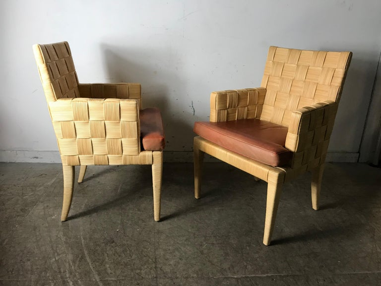 Pair of Donghia 'Block Island' Modernist Armchairs by John Hutton For Sale 3