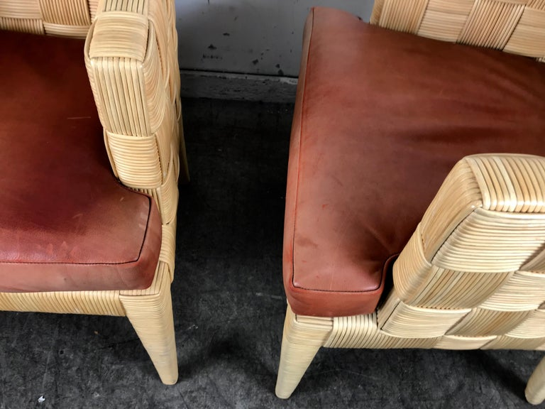 Mid-Century Modern Pair of Donghia 'Block Island' Modernist Armchairs by John Hutton For Sale