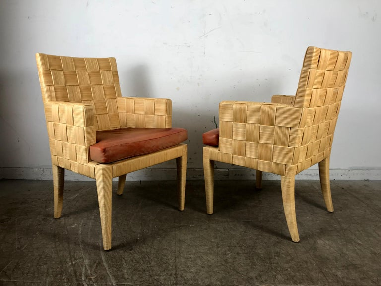 American Pair of Donghia 'Block Island' Modernist Armchairs by John Hutton For Sale