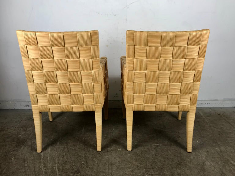 Pair of Donghia 'Block Island' Modernist Armchairs by John Hutton In Good Condition For Sale In Buffalo, NY