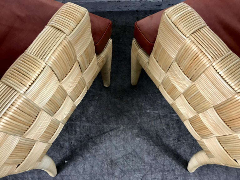 Late 20th Century Pair of Donghia 'Block Island' Modernist Armchairs by John Hutton For Sale