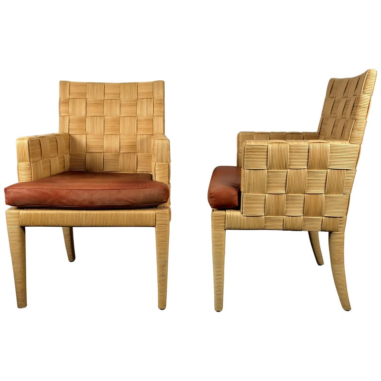 Pair of Donghia 'Block Island' Modernist Armchairs by John Hutton For Sale