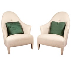 "Pair of Donghia Upholstered ""Phantom"" Club Chairs"