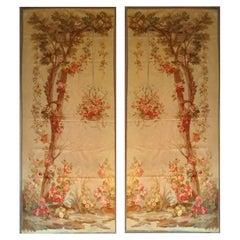 Pair of Door, 19th Century Aubusson Tapestry