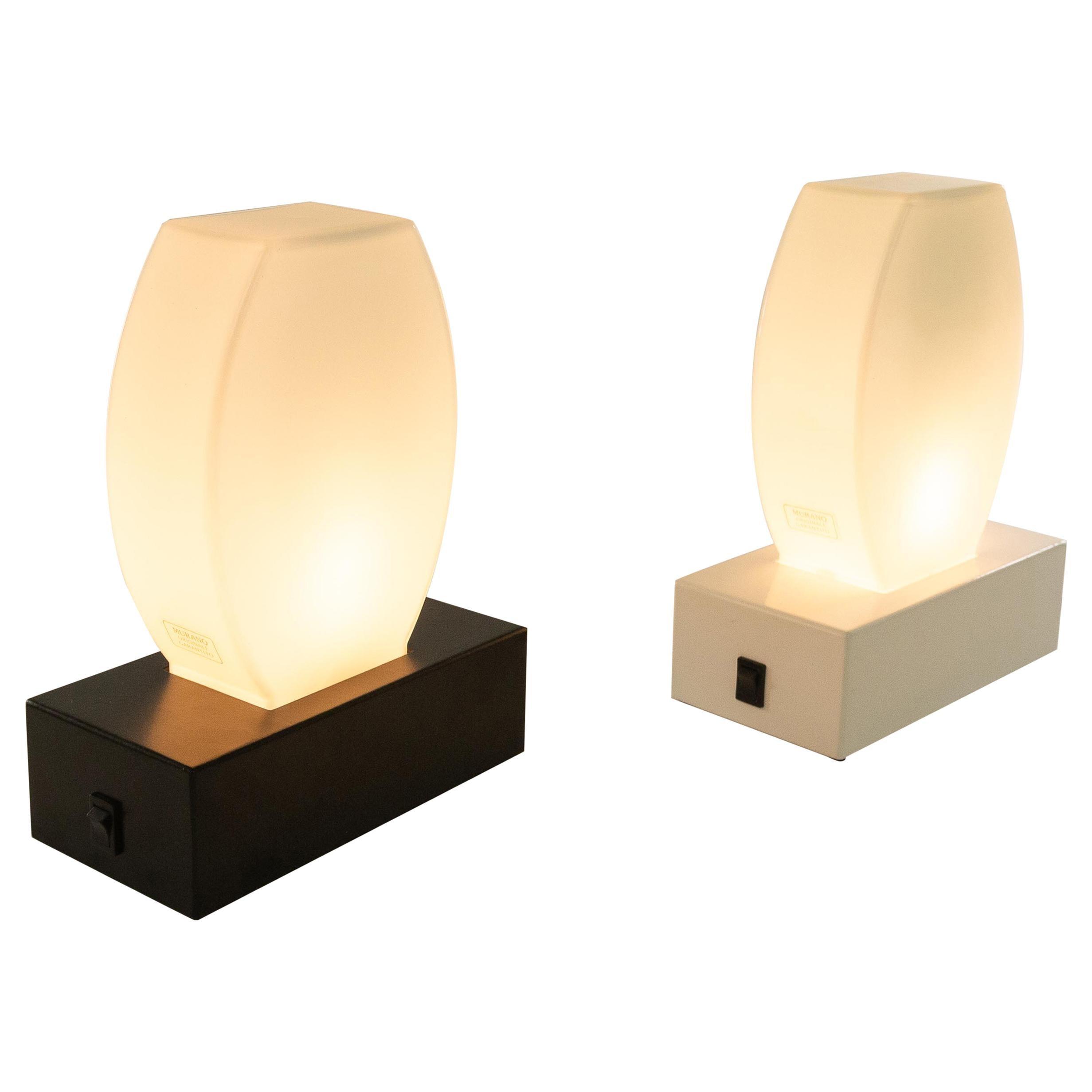 Pair of Dorane Table Lamps by Ettore Sottsass for Stilnovo, 1970s