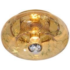 Pair of Doria Murano Glass Flush Mounts or Sconces