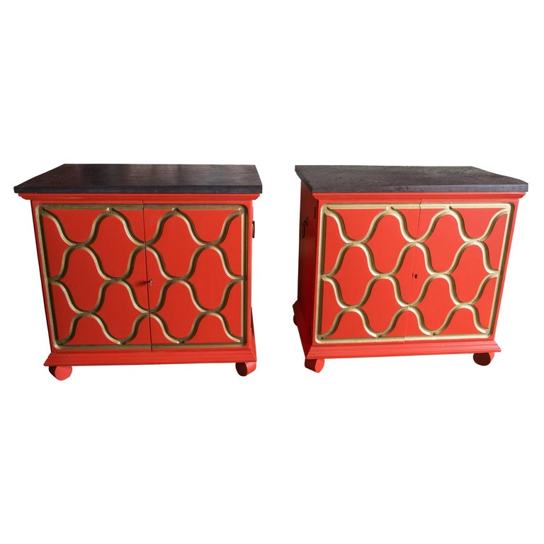 Pair of Dorothy Draper Espana Chests For Sale