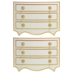 Hollywood Regency Commodes and Chests of Drawers