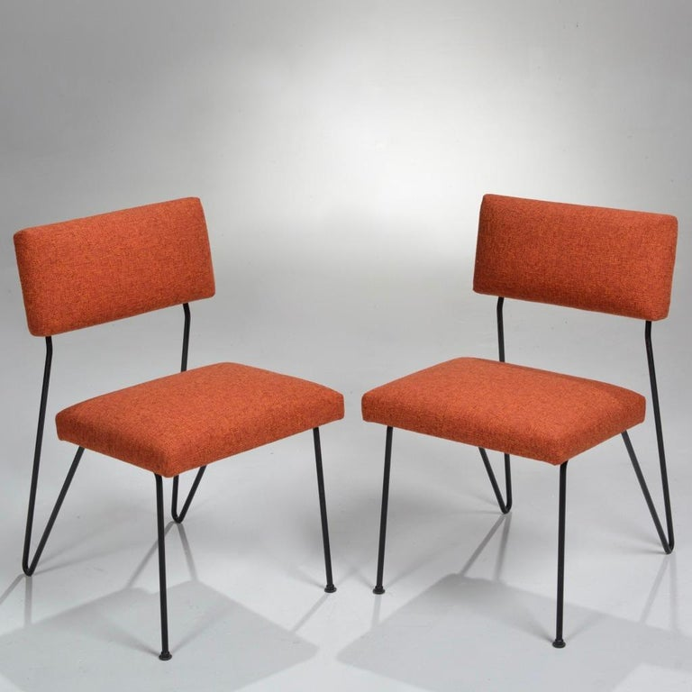 Rare Pair of Dorothy Schindele Hairpin Leg Chairs, Circa 1949 For Sale 5