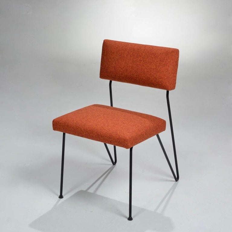 Modern Rare Pair of Dorothy Schindele Hairpin Leg Chairs, Circa 1949 For Sale