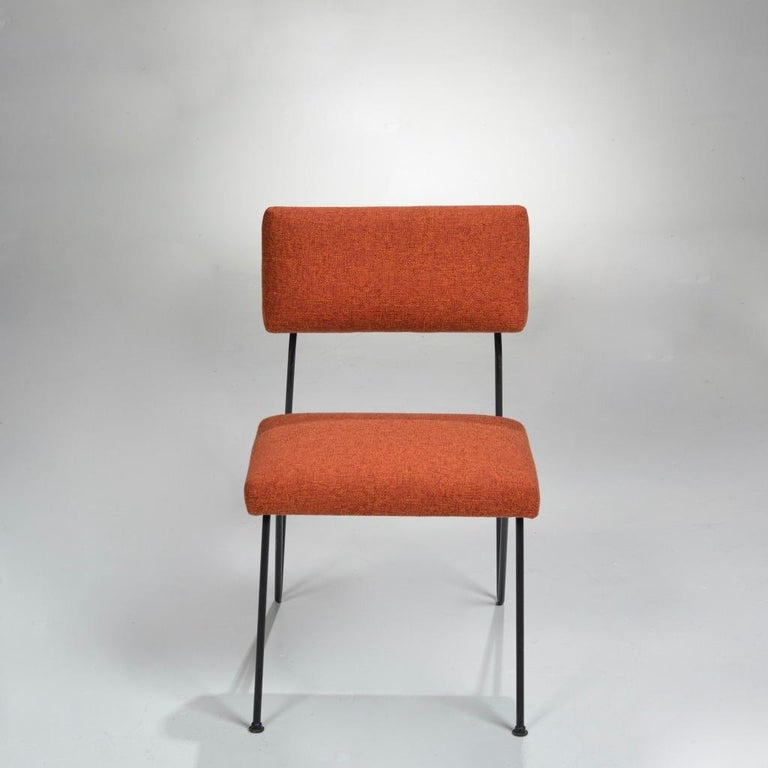 American Rare Pair of Dorothy Schindele Hairpin Leg Chairs, Circa 1949 For Sale