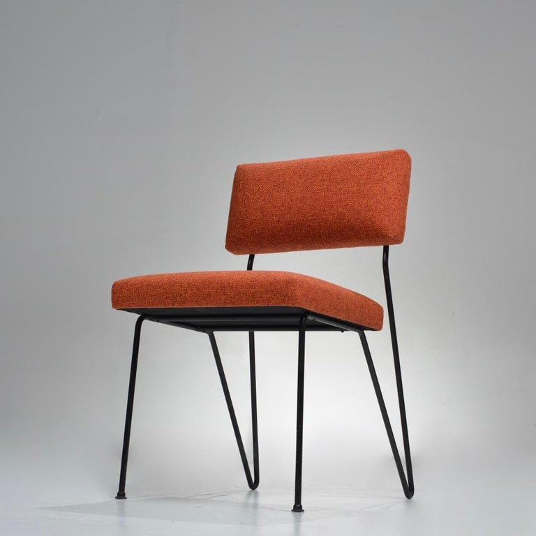Steel Rare Pair of Dorothy Schindele Hairpin Leg Chairs, Circa 1949 For Sale