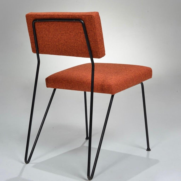 Rare Pair of Dorothy Schindele Hairpin Leg Chairs, Circa 1949 For Sale 1