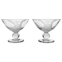 Pair of Dorothy Thorpe Art Deco Compotes