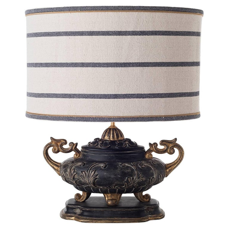 French Provincial Pair of Double-Armed Table Lamps For Sale